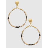 Faceted Bead Drop Earrings (5395720994981)