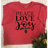 Peace, Love & Joy - Youth Graphic Tee (1773311623238)