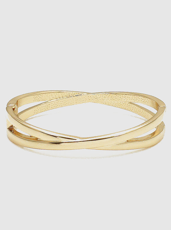 Crossed Bangle Bracelet (5390496006309)