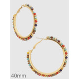 Faceted Beads Hoop Earrings - abby+anna's boutique (5390430863525)