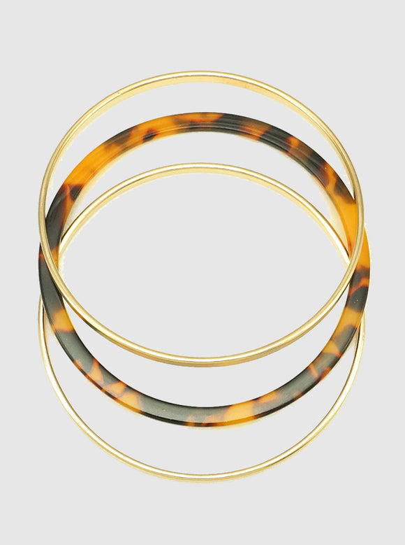 Acetate & Mixed Metal Bangle - abby+anna's boutique