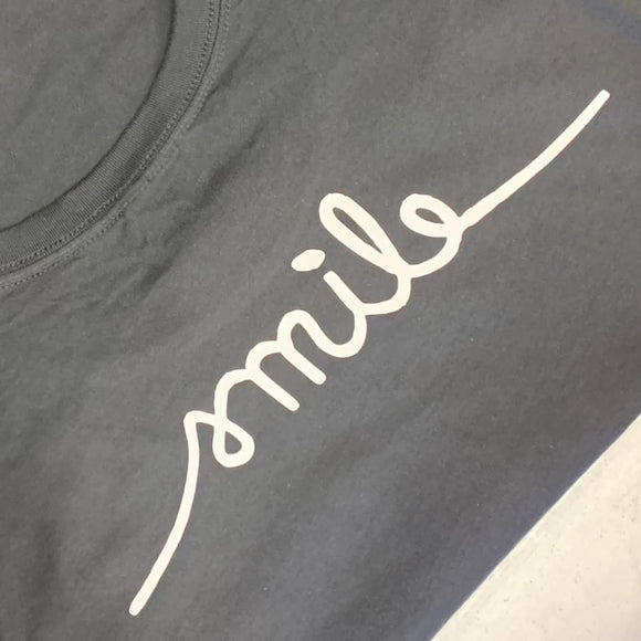 Smile  -  Graphic Tee / Marbled Heather (4495470067784)