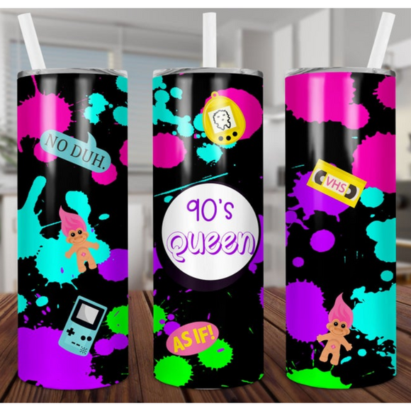 Bee Skinny Tumbler with Metal Straw (5768011743397)