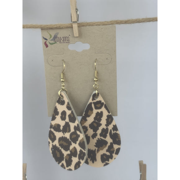 Leopard Plaid Earrings (6079667536053)