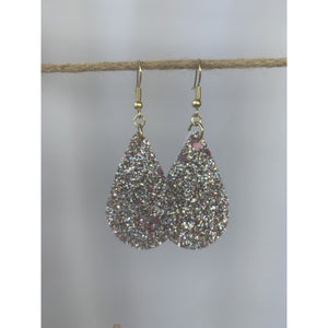 Silver Glitter Earrings - abby+anna's boutique