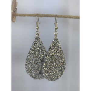 White, Gold & Black Glitter Earrings - abby+anna's boutique