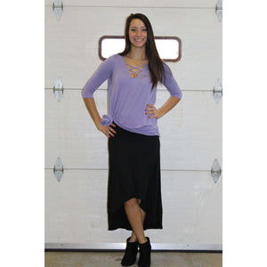 a+a Exclusive Hi-Low Maxi Skirt - abby+anna's boutique (1756961767494)