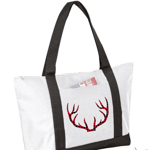Antlers Graphic Tote