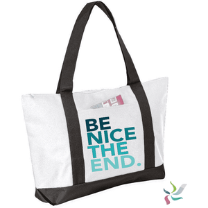 Be Nice The End. Graphic Tote Bag (1945963659334)