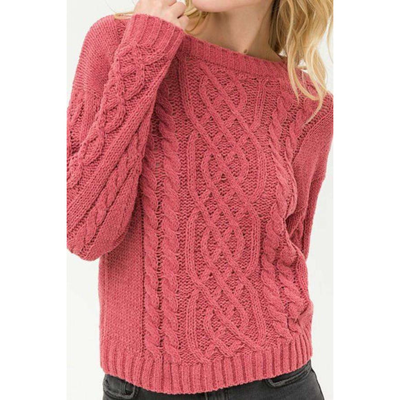 Cable Knit Sweater (4380697002056)