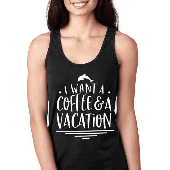 Coffee & Vacation - Graphic Tank (3882077716550)