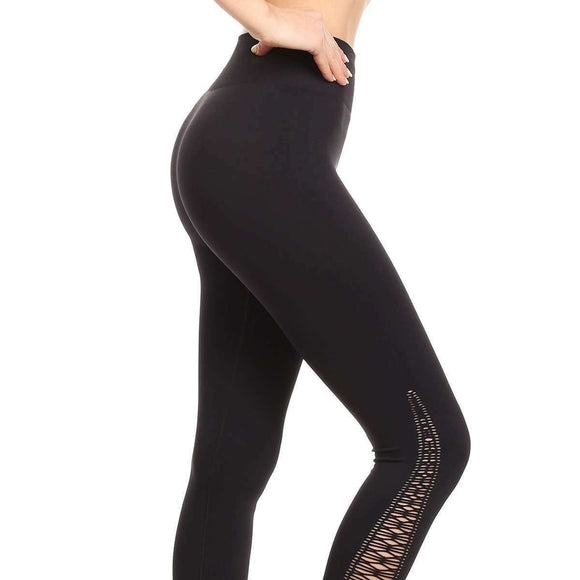 Cut Out Compression Leggings