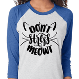 Don't Stress Meowt - Raglan Graphic Tee - abby+anna's boutique