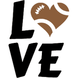 Football Love Graphic Tote