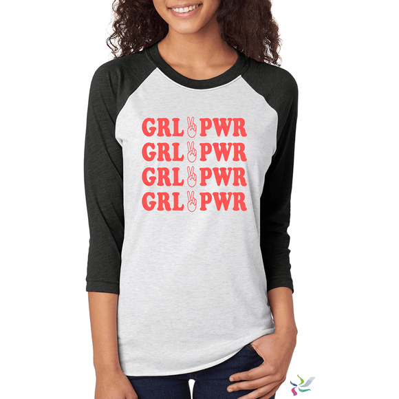 Girl Power - Raglan Graphic Tee (2041108168774)