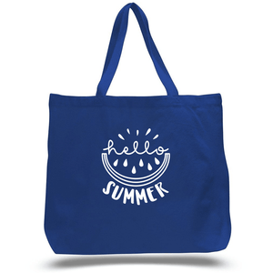 Hello Summer Zippered Beach Tote (3928501649478)