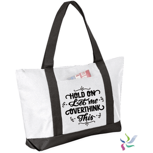 Hold on Let me Overthink It Graphic Tote Bag (2041075826758)