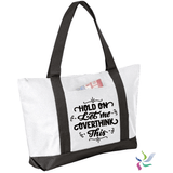 Hold on Let me Overthink It Graphic Tote Bag