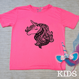 Mandala Unicorn Graphic Tee - Kids (1856892403782)