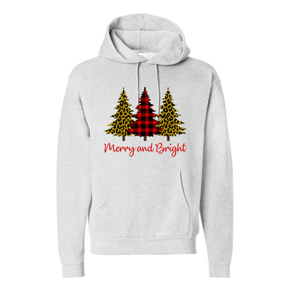 Merry & Bright - Graphic Hoodie