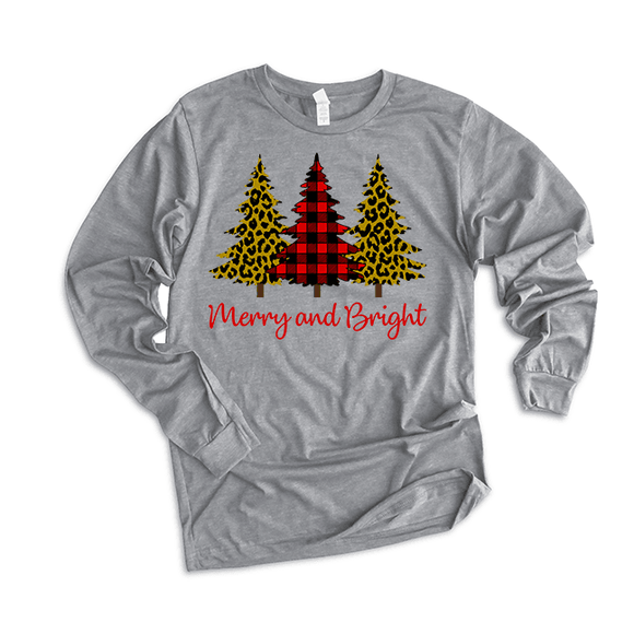 Merry & Bright Trees - Long Sleeve Tee - abby+anna's boutique