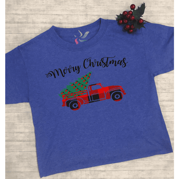 Merry Christmas Truck - Youth Graphic Tee - Final Sale (1802628988998)