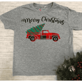 Merry Christmas Truck - Youth Graphic Tee
