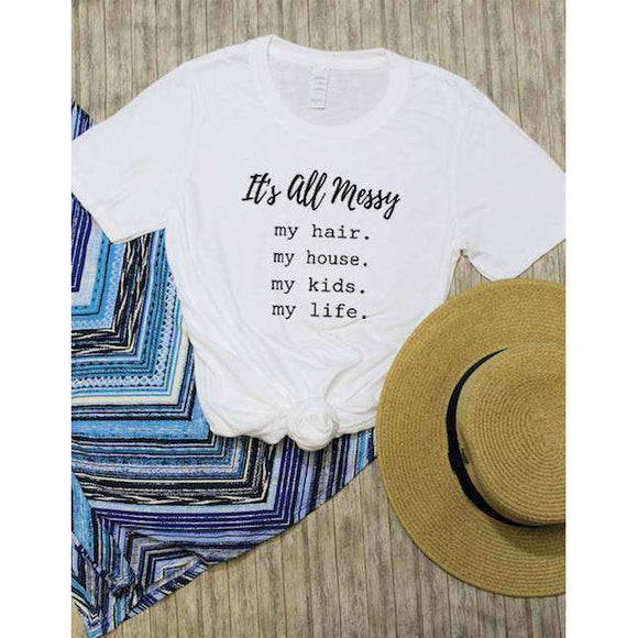 Messy Life Graphic Tee (1753676873798)