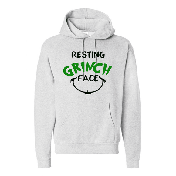 Resting Grinch Face - Graphic Hoodie - Final Sale (4374505422920)