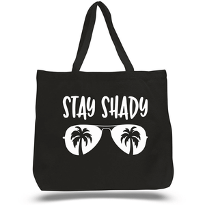 Stay Shady Zippered Beach Tote - abby+anna's boutique