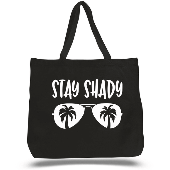 Stay Shady Zippered Beach Tote (3928497324102)