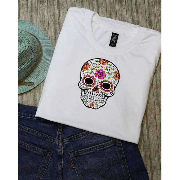 Sugar Skull Graphic Tee - abby+anna's boutique