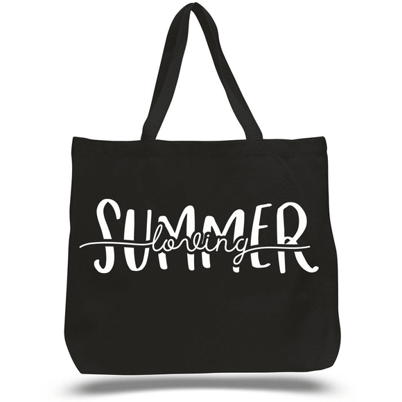Summer Loving Zippered Beach Tote (3928498274374)