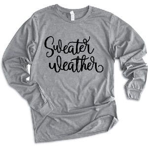 Sweater Weather - Long Sleeve Tee (4330983882824)