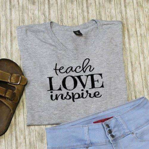 Teach Love Inspire Graphic Tee - abby+anna's boutique