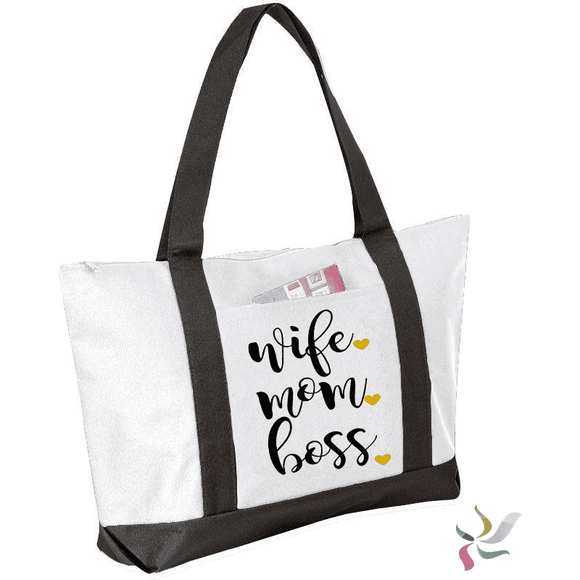 Wife. Mom. Boss. Graphic Tote Bag (1970485329990)