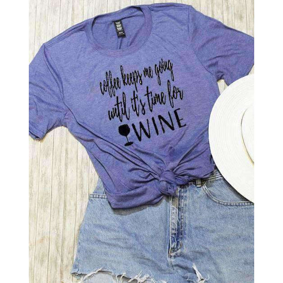 Wine Time Graphic Tee - abby+anna's boutique