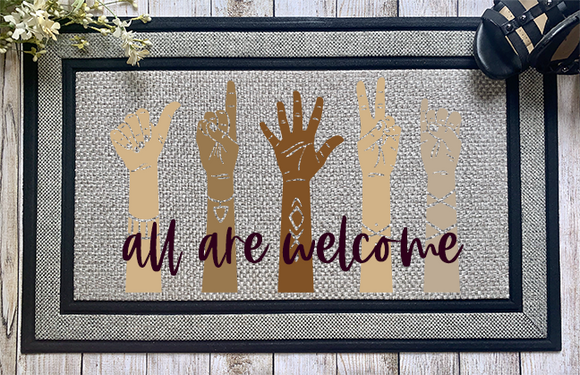 All Are Welcome Door Mat - abby+anna's boutique