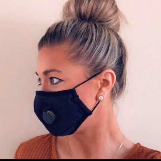 Unisex Personal Face Mask with Filter, Solid Colors (5242998718629)