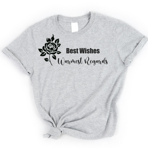 Best Wishes, Warmest Regards Graphic Tee - abby+anna's boutique