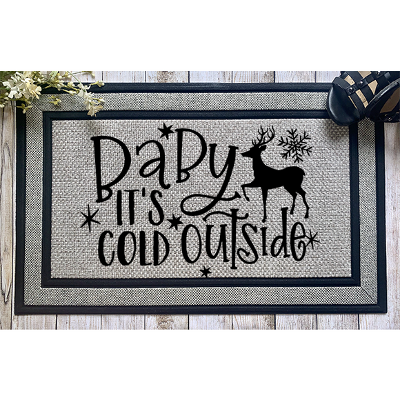 Baby It's Cold Outside Door Mat - abby+anna's boutique