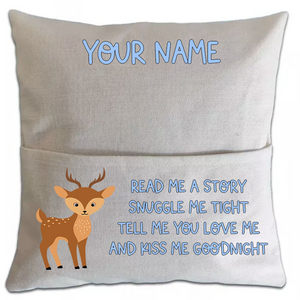 Deer Pillowcase Cover w/ pocket - abby+anna's boutique