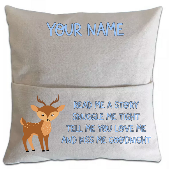 Deer Pillowcase Cover w/ pocket (5750366797989)