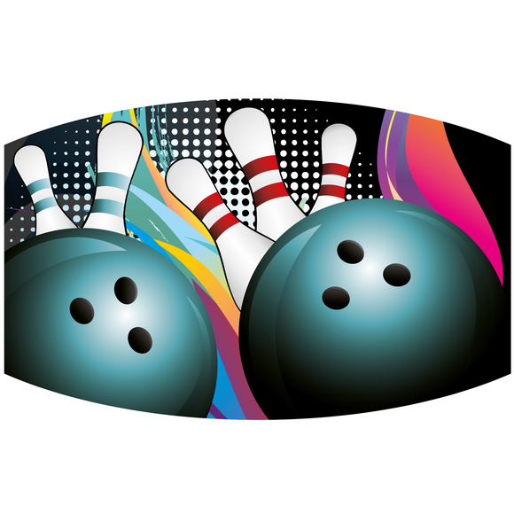 Bowling - Adult & Youth  Non-Medical Face Mask (5573848662181)
