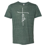 Faith  -  Graphic Tee/Marbled Heather - abby+anna's boutique
