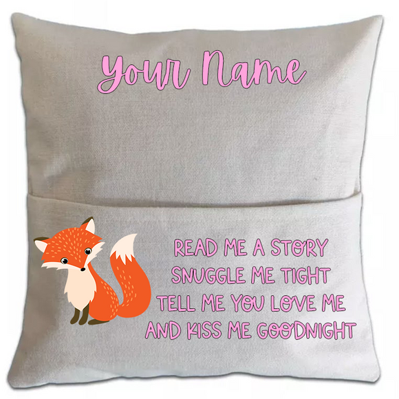 Fox Pillowcase Cover w/ pocket (5751161159845)