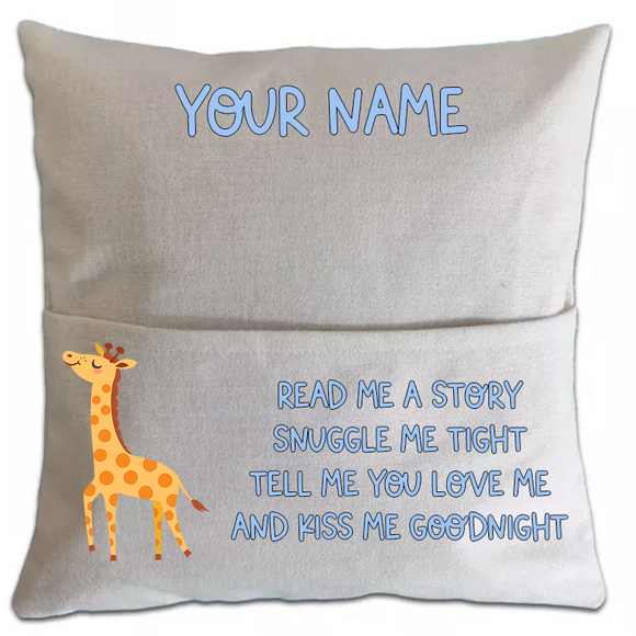 Giraffe Pillowcase Cover w/ pocket (5751163846821)