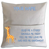 Giraffe Pillowcase Cover w/ pocket - abby+anna's boutique