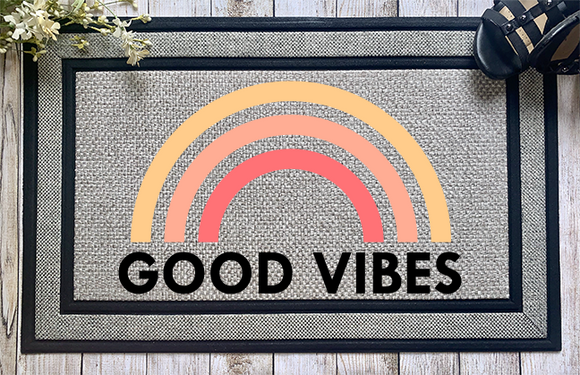 Good Vibes Door Mat - abby+anna's boutique