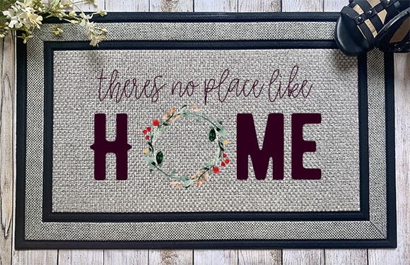 There's No Place Like Home Door Mat - abby+anna's boutique